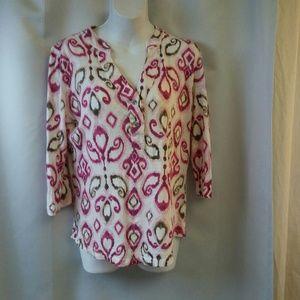 Fresh Produce Knit 3/4 sleeve Blouse, S